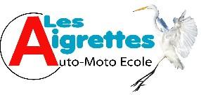 "logo Auto-Moto Ecole ""Les Aigrettes"""